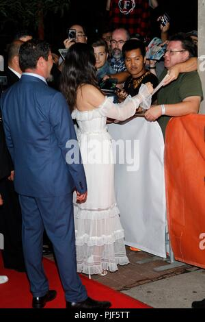 Toronto, Canada.. 6th Sep, 2018. Olivia Munn at arrivals for THE PREDATOR Premiere at Toronto International Film Festival 2018, Ryerson Theatre, Toronto, Canada. September 6, 2018. Credit: JA/Everett Collection/Alamy Live News - Stock Photo