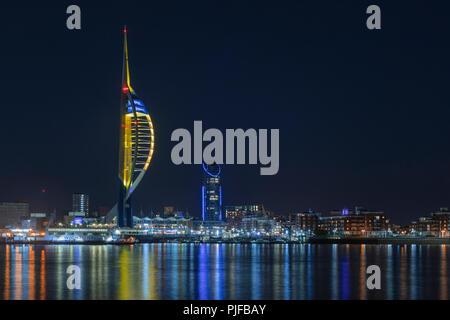 Spinnaker Tower, Portsmouth, Hampshire, England, UK, Europe - Stock Photo