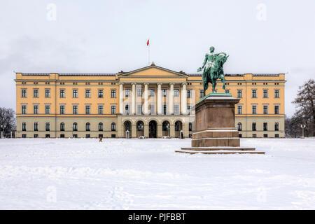Oslo, Royal Palace, Norway, Scandinavia, Europe - Stock Photo