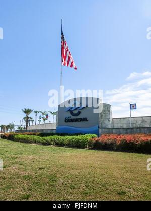 Cape Canaveral, USA - April 29, 2018: Cape Canaveral port Florida, Beautiful coast. - Stock Photo