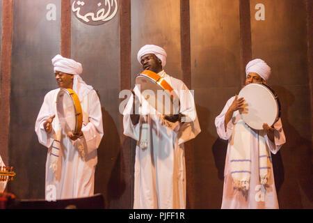 Egyptian tanoura dancers,Cairo, Egypt - Stock Photo