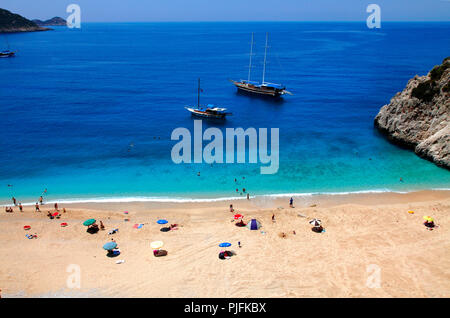 Turkey, province of Antalya, Kaputas beach beetwen Kalkan and Kas - Stock Photo