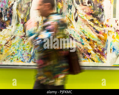 France, Paris, FIAC (International Contemporary Art Fair) under the nave of the Grand Palais - Stock Photo