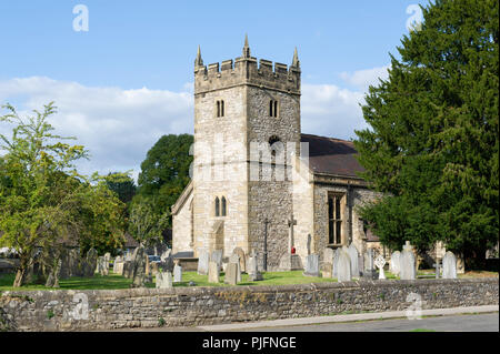 Holy Trinity Church at Ashford In The Water, Peak District National Park, Derbyshire - Stock Photo