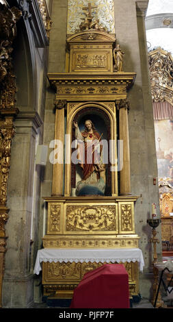 Porto, Portugal - March 4, 2015: Jesus Christ statue from old St. Nicholas church. Church from XVII century, rebuilt in the eighteenth century. Neocla - Stock Photo
