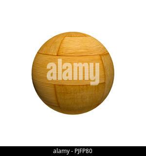 Detailed varnishing wood sphere. Illustration.