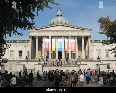 View of the UCL Main Building at University College London during an open day - Stock Photo