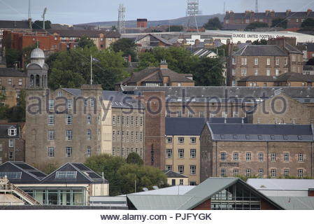 Distant view of Hotel Indigo and Staybridge Suites Dundee Scotland  September 2018 - Stock Photo