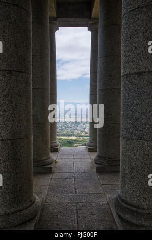 Pillars at the Rhodes Memorial in Capetown, South Africa - Stock Photo