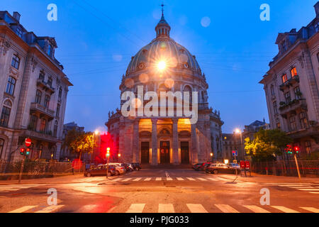 Marble Church in Copenhagen, Denmark. - Stock Photo