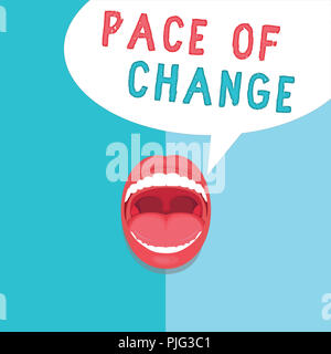 Word writing text Pace Of Change. Business concept for Shift in normal routine Variation in usual activities. - Stock Photo