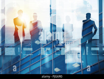 Group of business partner looking for the future. Concept of corporate and startup - Stock Photo
