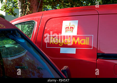 Royal Mail vans, England UK - Stock Photo