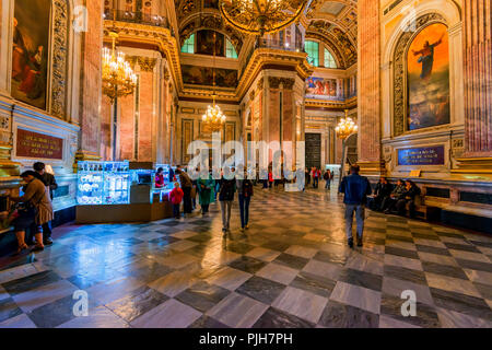 SAINT PETERSBURG, RUSSIA - JUNE 18, 2015: Interior of Saint Isaac's Cathedtral in Saint Petersburg - Stock Photo