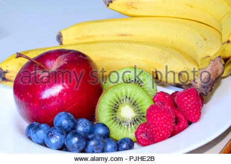 Fruits in Plate - Stock Photo