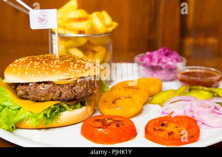 Hamburger portion - Stock Photo