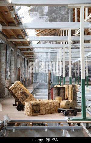 Verdant Works, a restored mill showing the stages of local 19th-20th century jute production, a huge industry in Dundee, on Tayside, Scotland, UK - Stock Photo