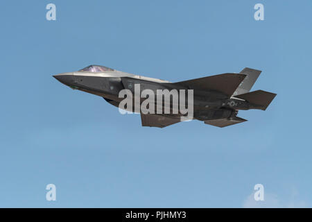 USAF F-35 Lightning, RIAT, RAF Fairford, UK - Stock Photo