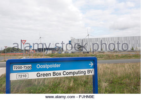 Eemshaven The Netherlands Google datacenter. Green Box Computing BV is a daughter company of Google. - Stock Photo