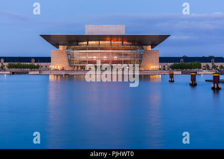 The Copenhagen Opera House (in Danish usually called Operaen, literally The opera) is the national opera house of Denmark, and among the most modern o - Stock Photo