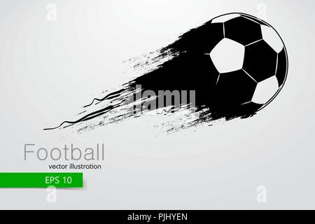 silhouette of a football ball. Text and background on a separate layer, color can be changed in one click. Vector illustration - Stock Photo