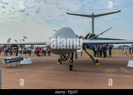 General Atomics Aeronautical Systems' MQ-9B SkyGuardian, RIAT 2018, UK - Stock Photo