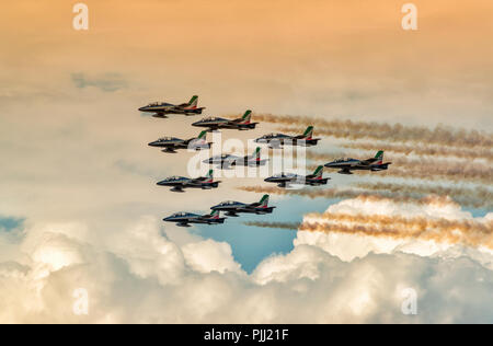 Italian Air Force, Frecce Tricolori, RIAT 2018, UK - Stock Photo