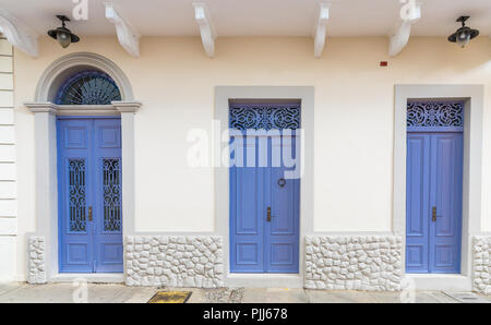 Panama City Panama. March 2018. A view of typical colonial architecture in Panama City in Panama. - Stock Photo