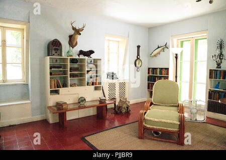 Key West, Florida, USA - September 1, 2018: Writing office at Ernest Hemingway's House in Key West, Florida. For editorial use. - Stock Photo