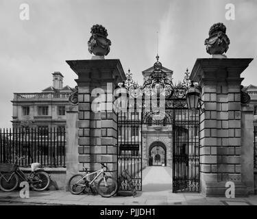 Trinity Lane entrance to Clare College Cambridge - Stock Photo
