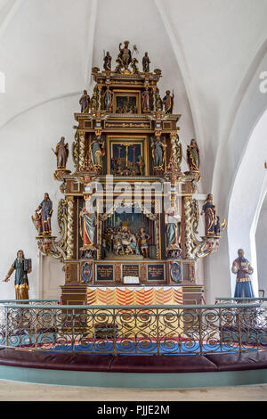 high altar of the church of St. Nicholas, Nakskov - Stock Photo