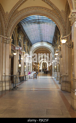 Vienna, Palais Ferstel, shopping arcade - Stock Photo