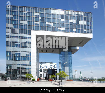 Kranhäuser, Rheinauhafen, marina, Cologne, North Rhine-Westphalia, Germany, Europe - Stock Photo