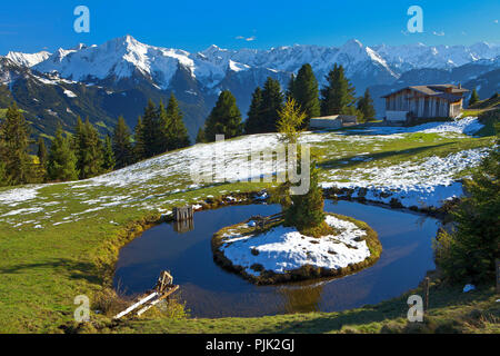 Austria, Tyrol, on the Zillertal high road - Stock Photo