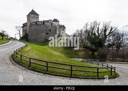 Vaduz Castle, Principality of Liechtenstein - Stock Photo