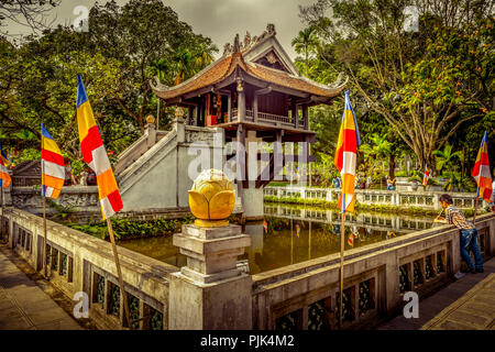 Vietnam, Southeast Asia, Asia, Hanoi, Ho Chi Minh, pagoda, one-pillar pagoda - Stock Photo