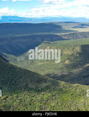 Volcanic crater at Mount Suswa, Rift Valley,Kenya - Stock Photo