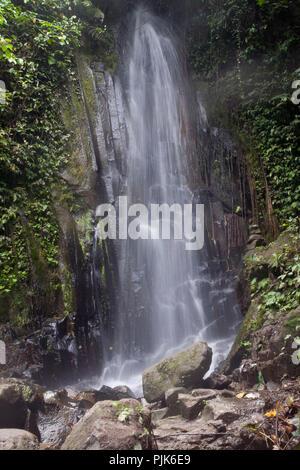 Waterfall near the Tegenungan waterfall, Ubud, Bali, Indonesia - Stock Photo