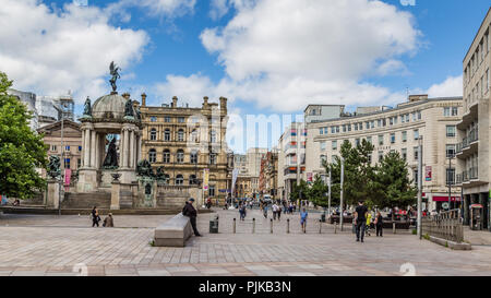 Streetview Durby Square in  Liverpool - Stock Photo