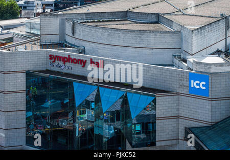 Symphony Hall in Birmingham is part of The International Convention Centre. - Stock Photo
