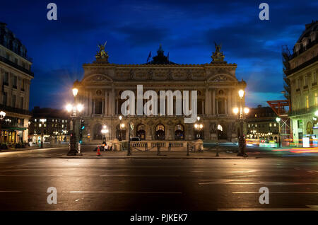 Opera National de Paris in the early morning, France - Stock Photo