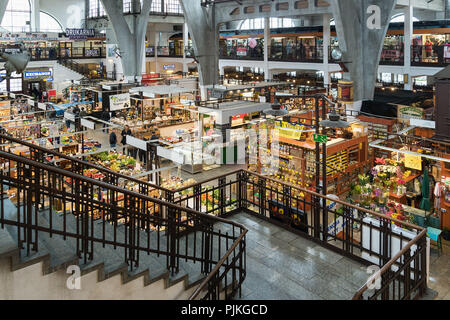 Poland, Wroclaw, Market Hall, Hala Targowa - Stock Photo