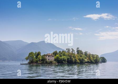 Brissago island, at Brissago, Lake Maggiore, Ticino, Switzerland - Stock Photo