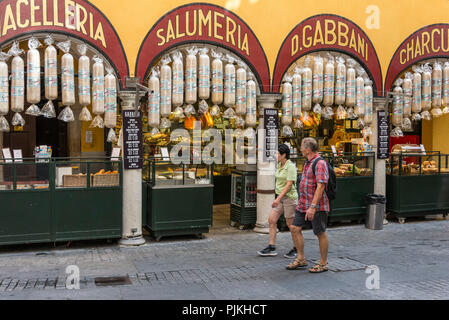 Showcase of the alley Via Nassa, Lugano, Lake Lugano, Ticino, Switzerland - Stock Photo
