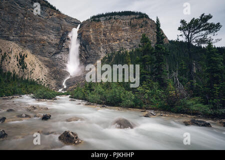 Takakkaw Falls, Yoho National Park, Canada - Stock Photo