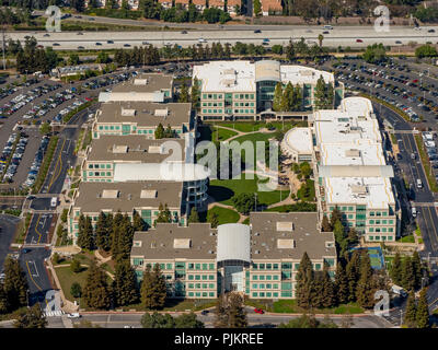 Apple Campus I, Apple Inc, Apple University, Infinite loop, Silicon Valley, Valley, California, United States of America, Cupertino, California, USA - Stock Photo
