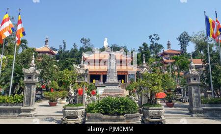 Long Son Pagoda in Vietnam - Stock Photo