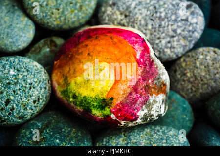 Stone painting - Abstract Art - Stock Photo