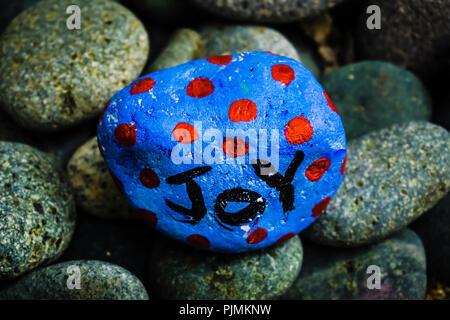 Stone painting - Joy - Stock Photo