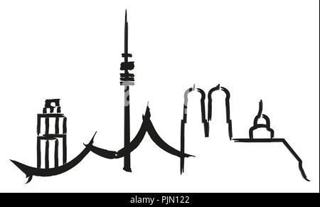 An image of a Munich city graphic